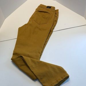 Earl Jeans mustard color skinny ankle style size 8